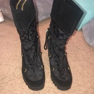 Coach heeled boots